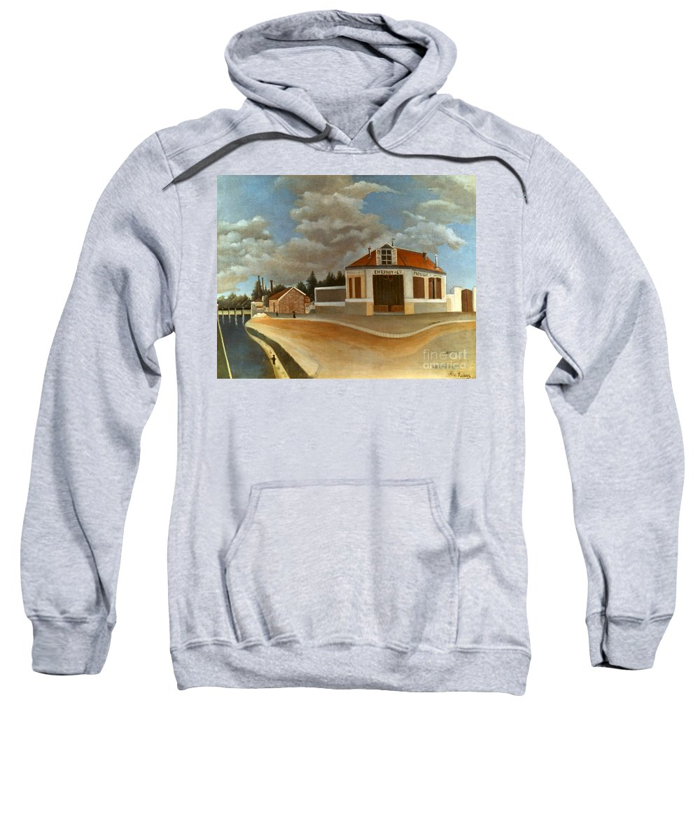 1897 Sweatshirt featuring the photograph Rousseau: Factory, C1897 by Granger
