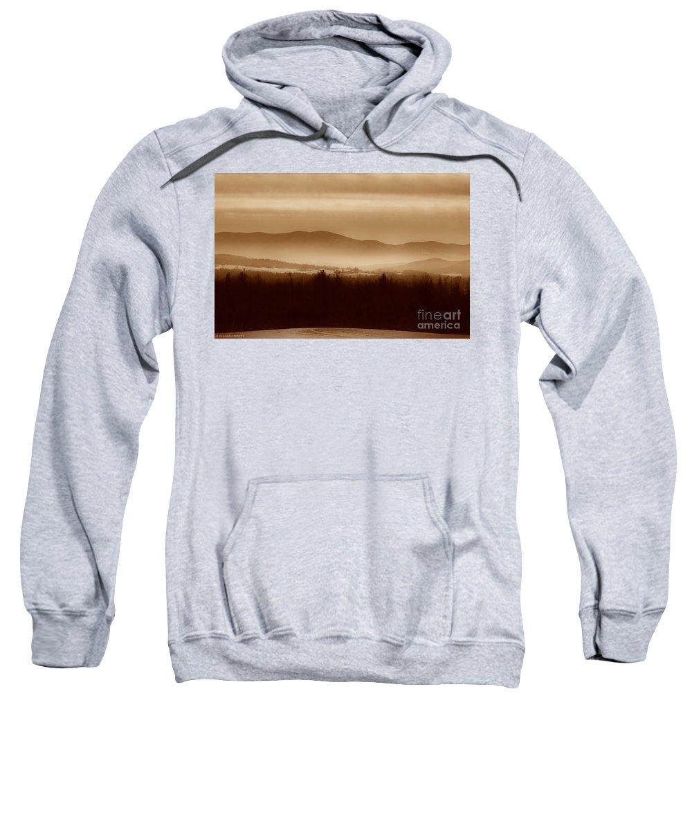 Landscape Sweatshirt featuring the photograph Route 120 Vermont View by Deborah Benoit