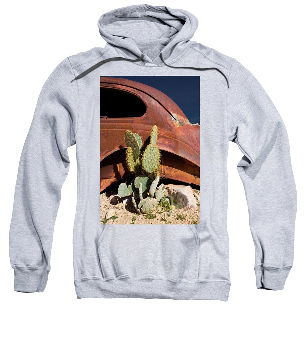 Notice Sweatshirt featuring the photograph Route 66-63 by Avril Christophe