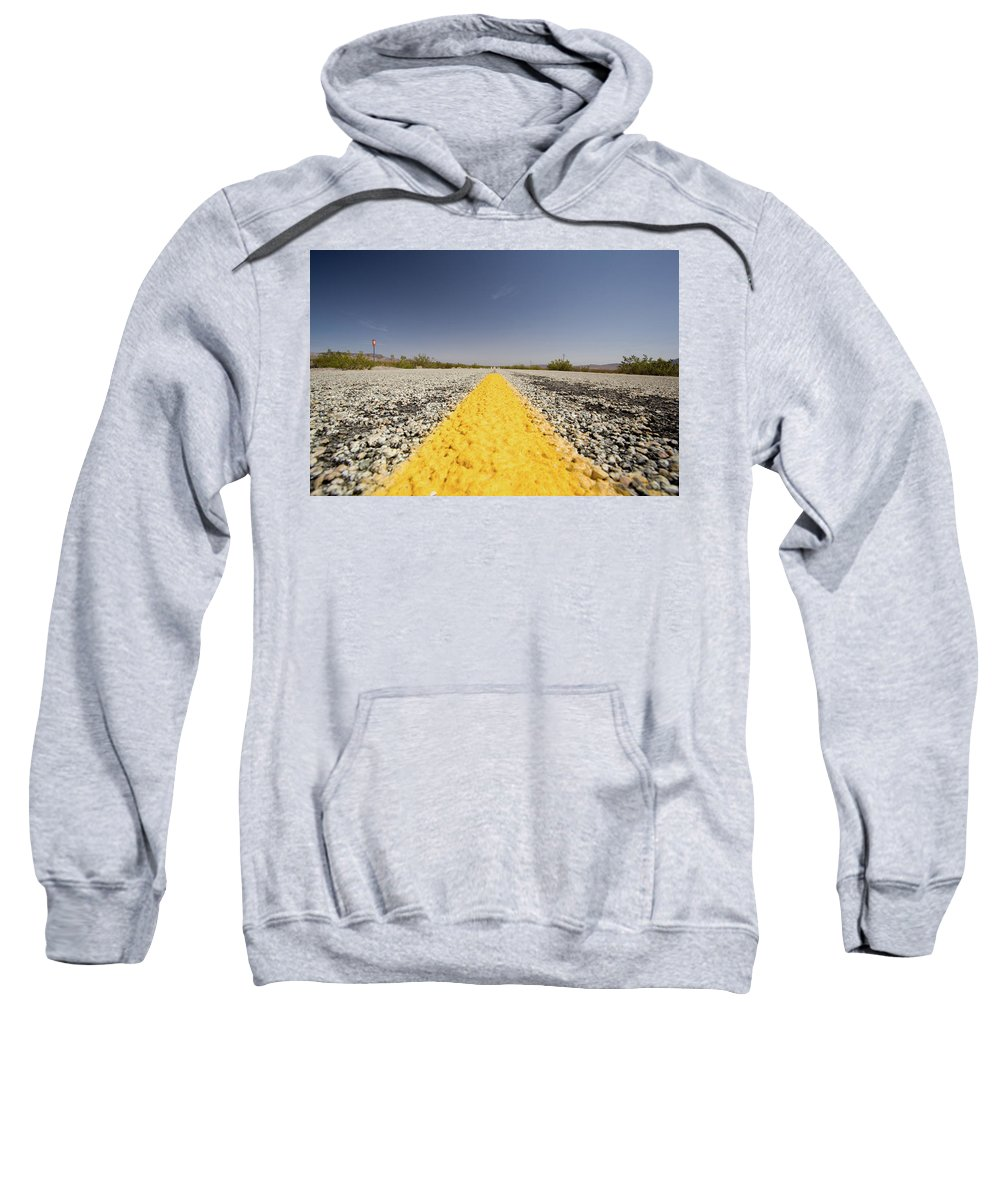 Notice Sweatshirt featuring the photograph Route 66-74 by Avril Christophe