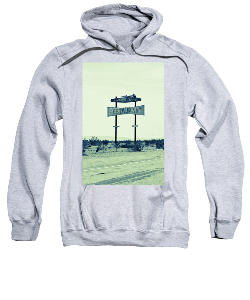 Notice Sweatshirt featuring the photograph Route 66-80 by Avril Christophe