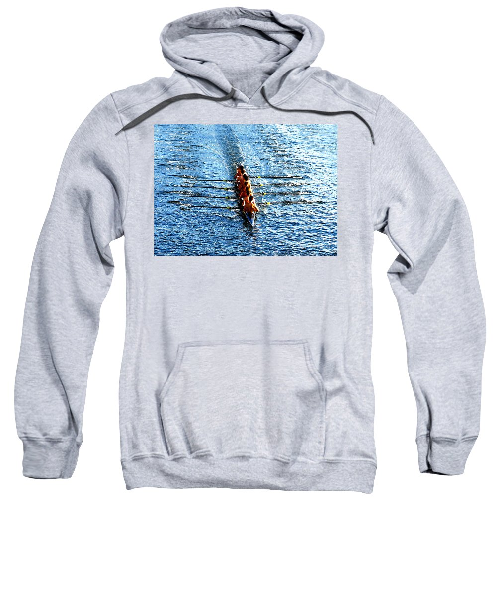 Rowing Sweatshirt featuring the photograph Rowing In by David Lee Thompson