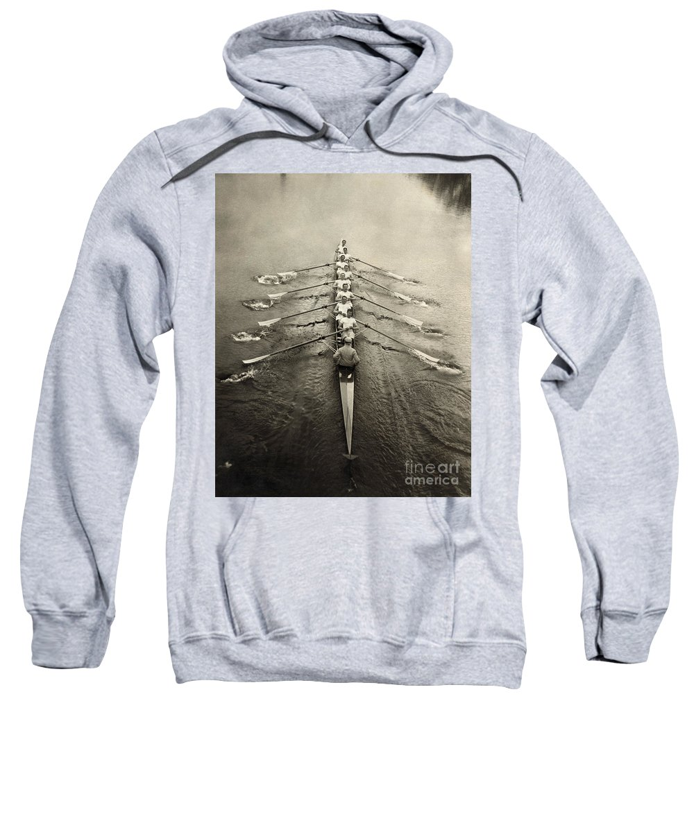 1913 Sweatshirt featuring the photograph Rowing Team, C1913 by Granger