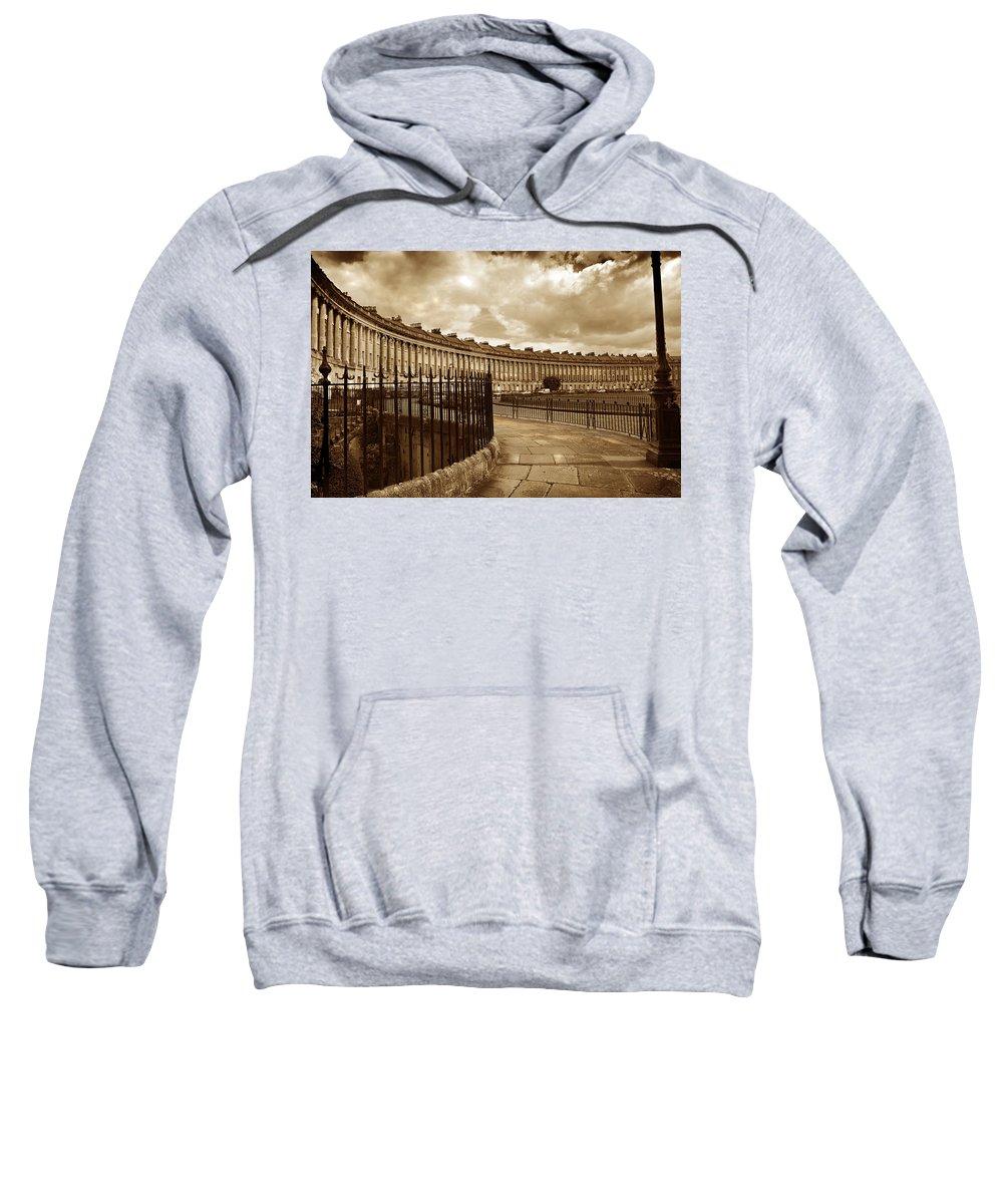 Bath Sweatshirt featuring the photograph Royal Crescent Bath Somerset England Uk by Mal Bray