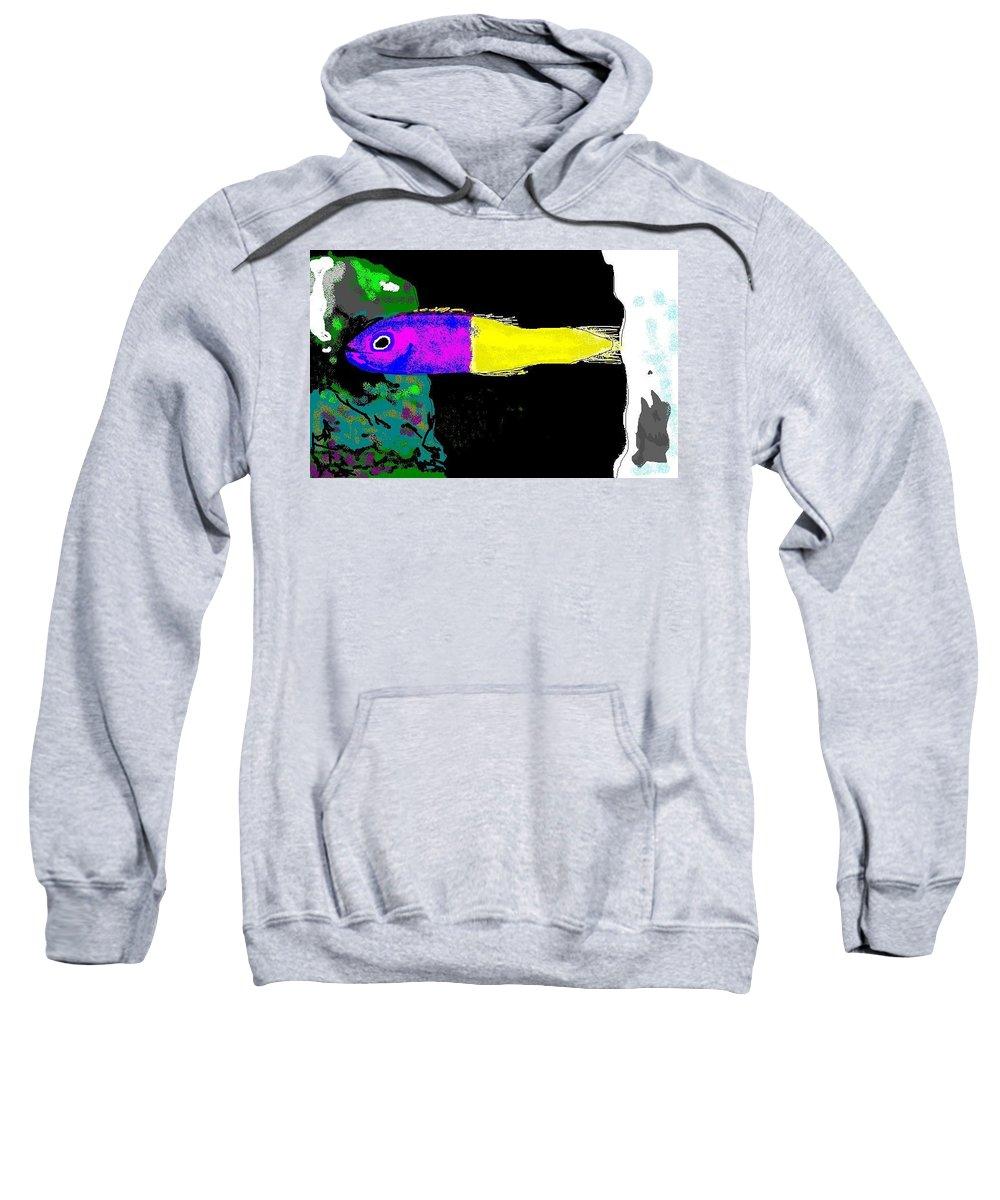 Saltwater Fish Sweatshirt featuring the digital art Royal Dottyback Fish by Robert Rodriguez