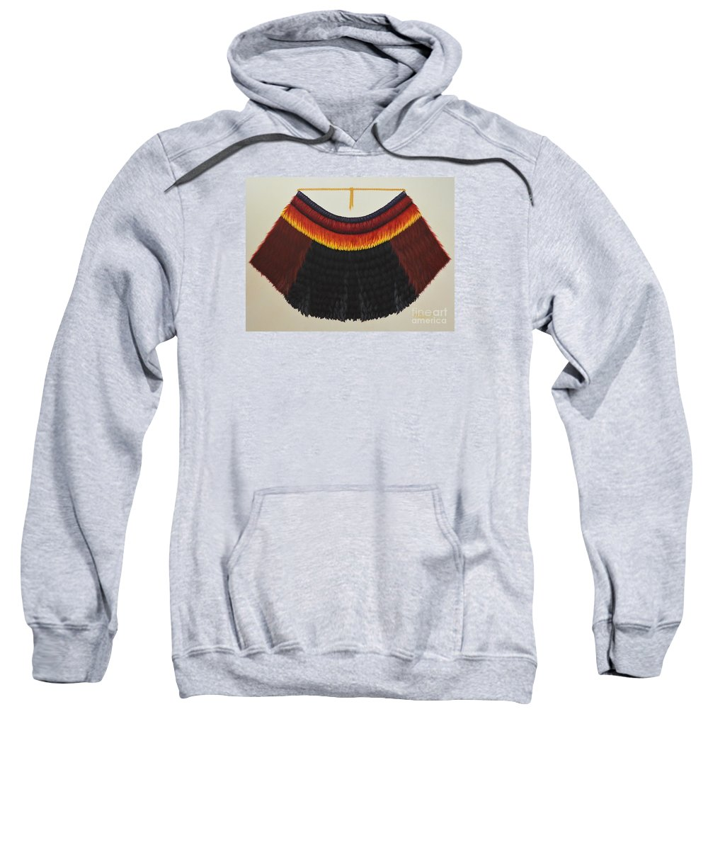 Hawaiian Sweatshirt featuring the painting Royal Hawaiian Feather Cape by Mary Deal