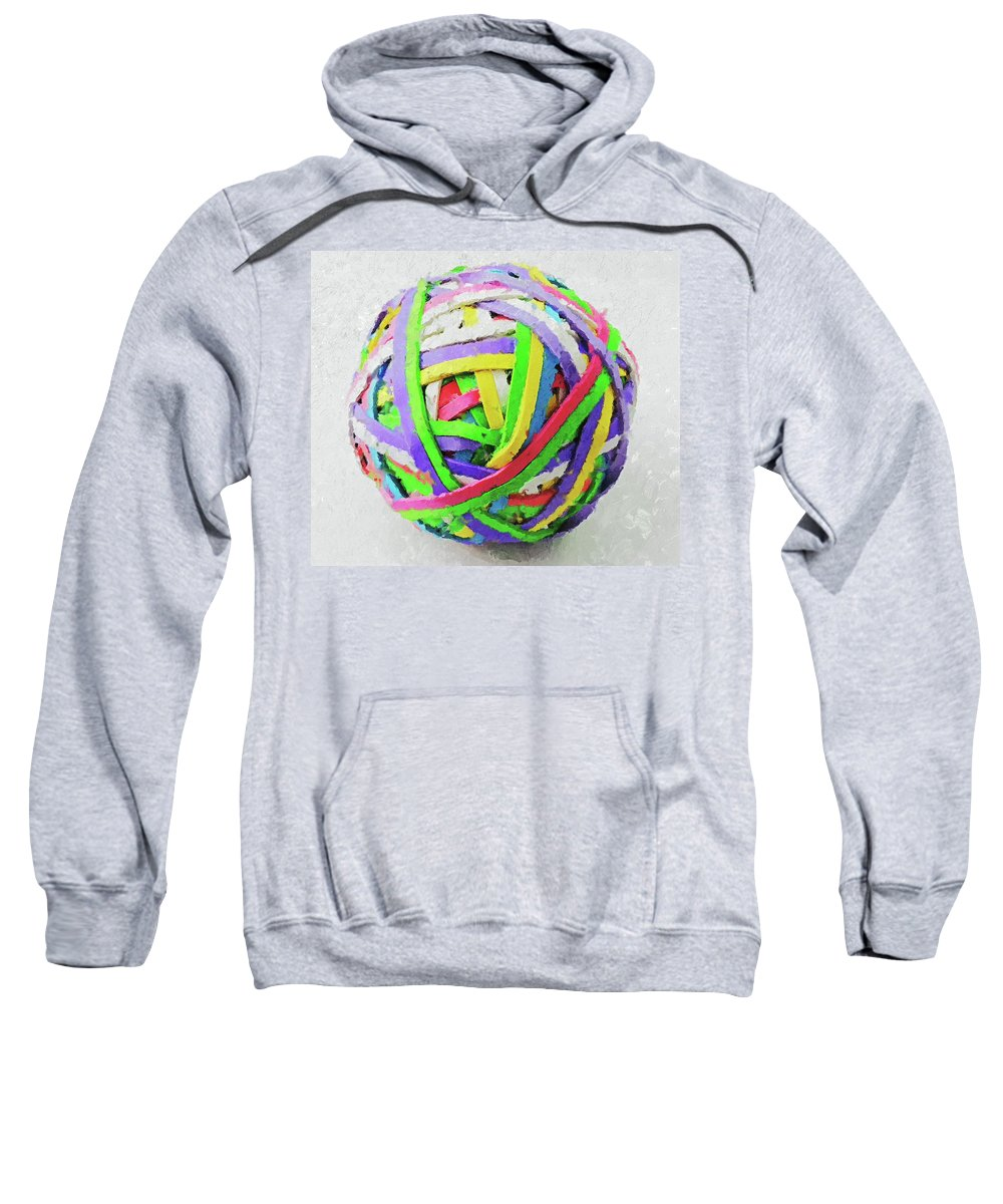 Rubberband Sweatshirt featuring the photograph Rubberband Ball I by Pekka Liukkonen