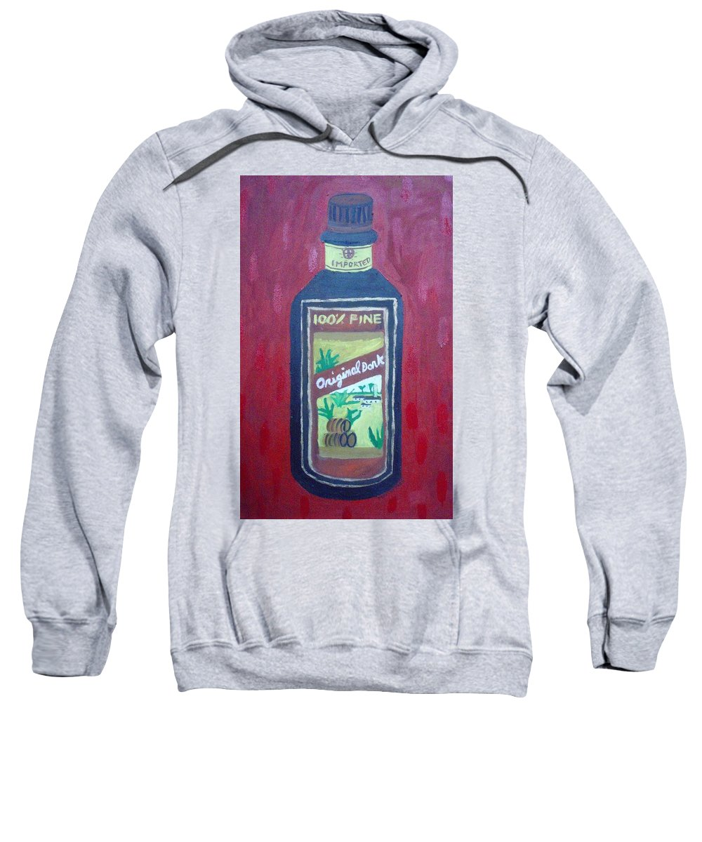 Oil On Canvas Sweatshirt featuring the painting Rum by Patrice Tullai