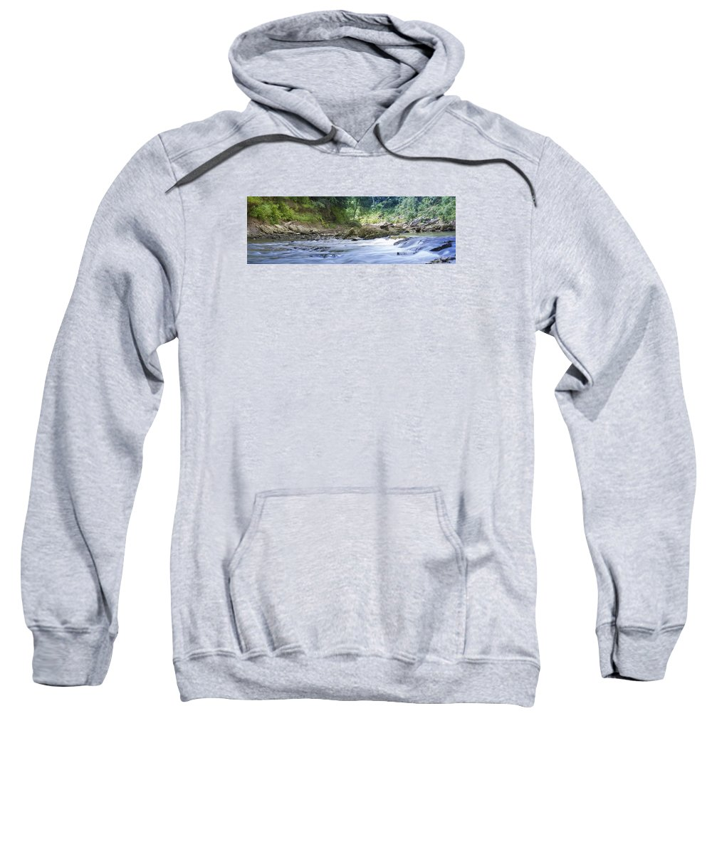 River Sweatshirt featuring the photograph Running Water by Will Akers