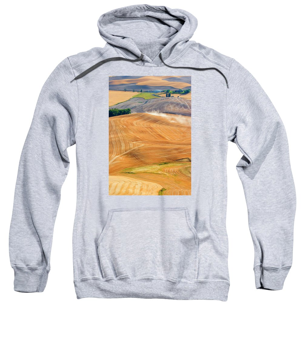 Hills Sweatshirt featuring the photograph Rural Traffic by Mike Dawson