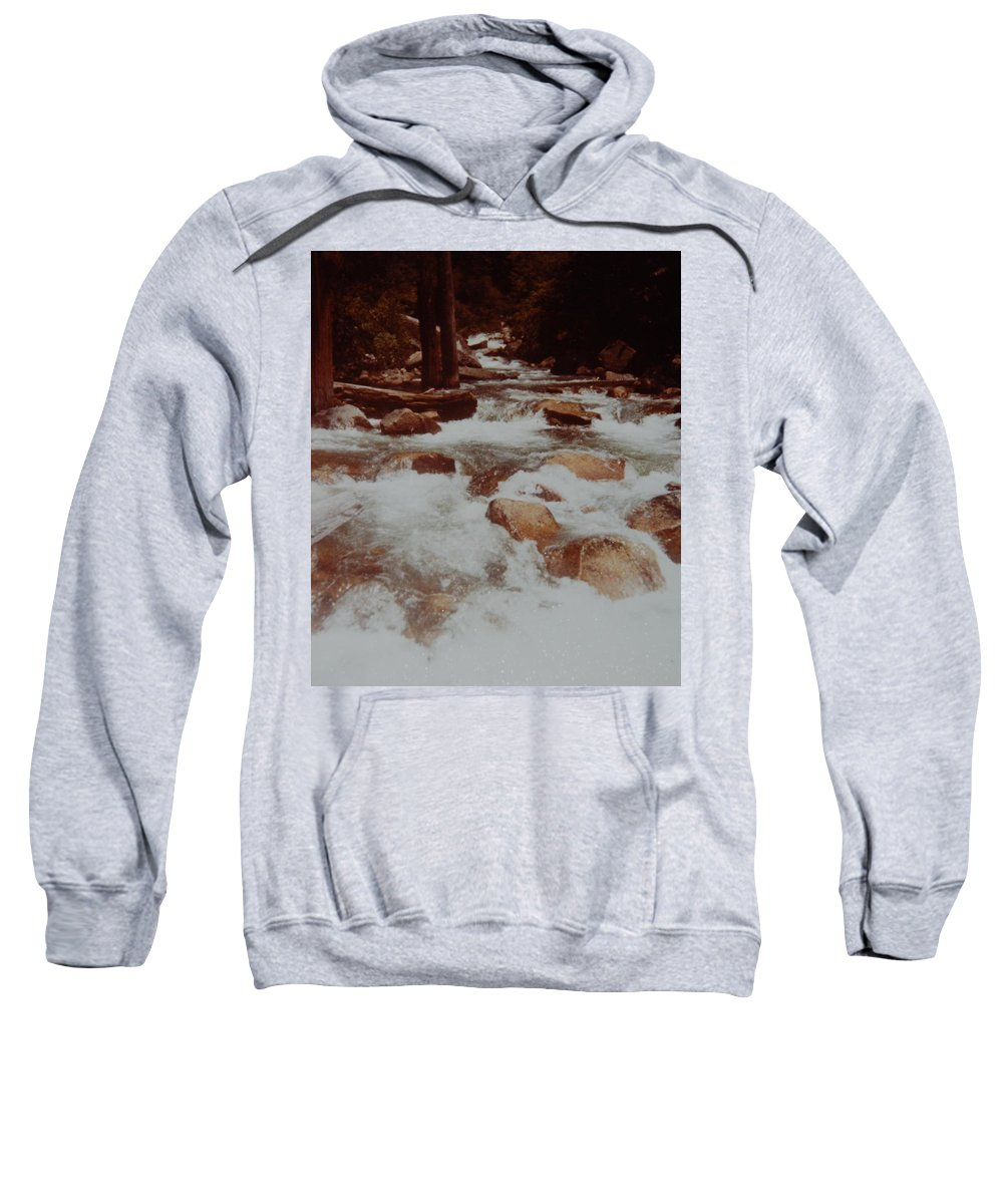 Water Sweatshirt featuring the photograph Rushing Water by Rob Hans