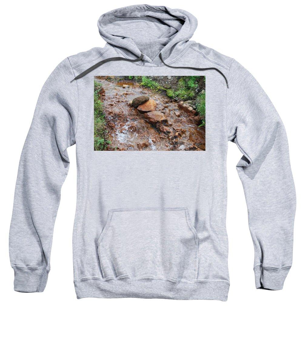 Water Sweatshirt featuring the photograph Rushing Waters 2 by Kristen Bird