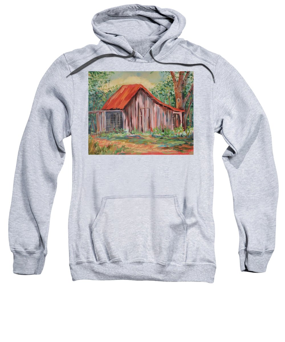 Chicken Coops Sweatshirt featuring the painting Russel Crow by Ginger Concepcion