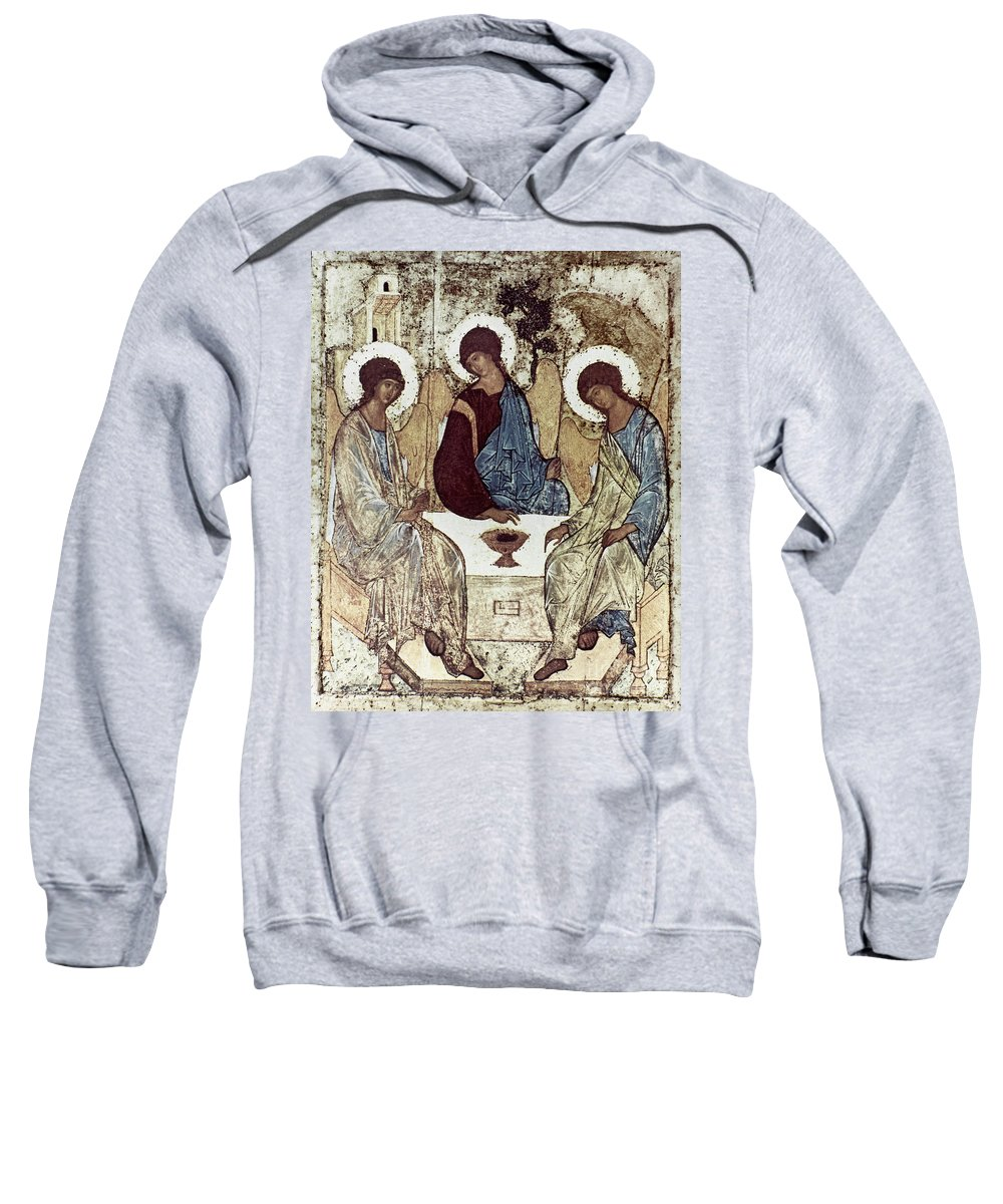 15th Century Sweatshirt featuring the photograph Russian Icons: The Trinity by Granger