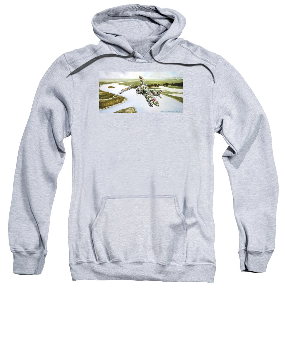 Aviation Sweatshirt featuring the painting Russian Roulette by Marc Stewart