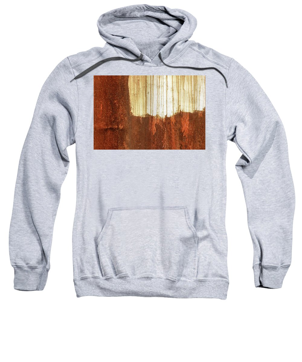 Abstract Sweatshirt featuring the photograph Rust 01 by Richard Nixon
