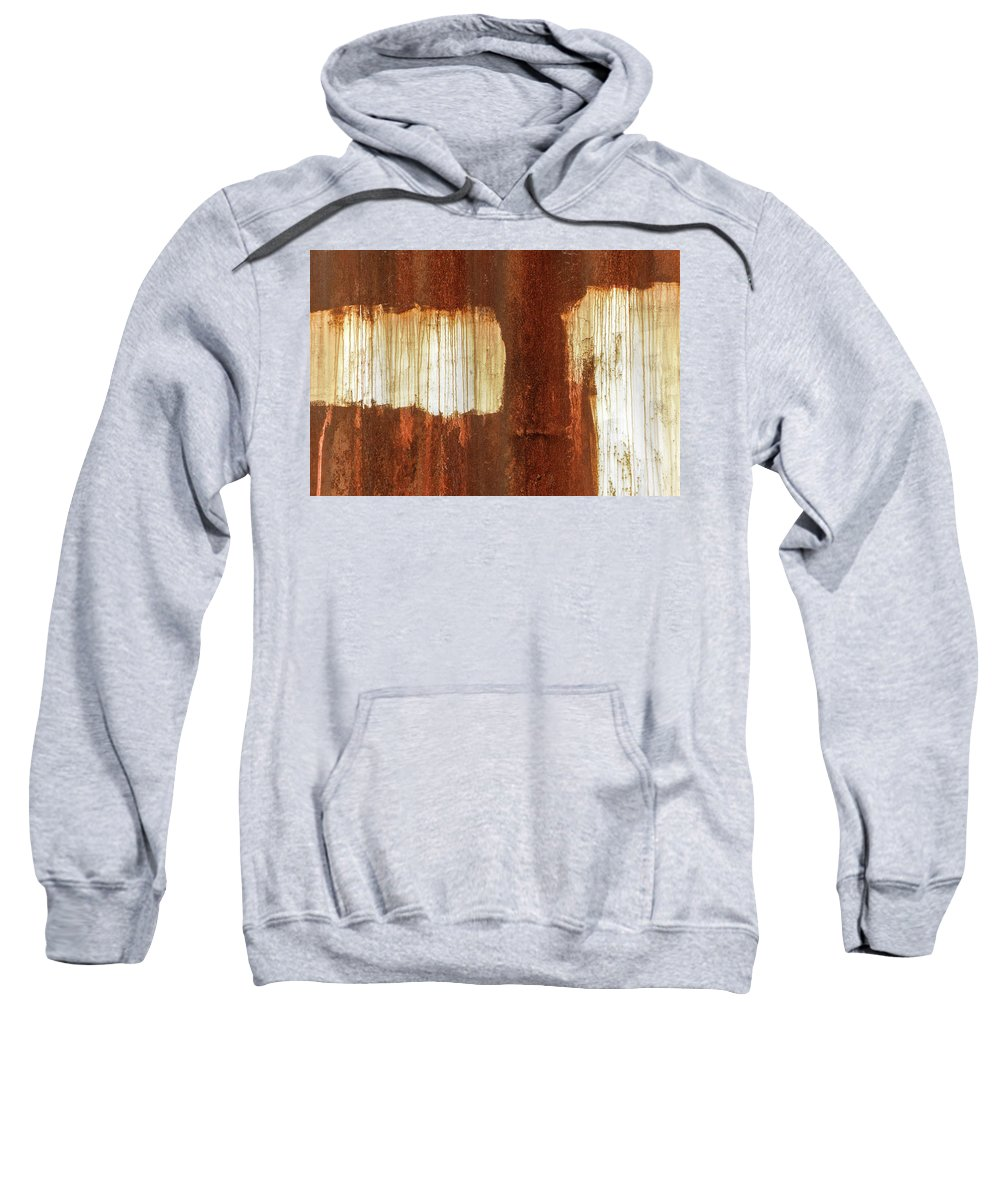 Abstract Sweatshirt featuring the photograph Rust 06 by Richard Nixon