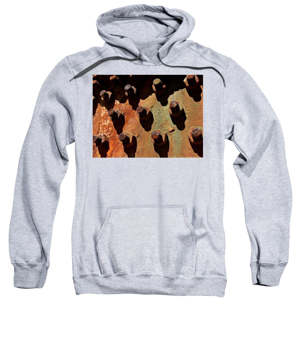 Industrial Sweatshirt featuring the photograph Rust by Brad Lindsey