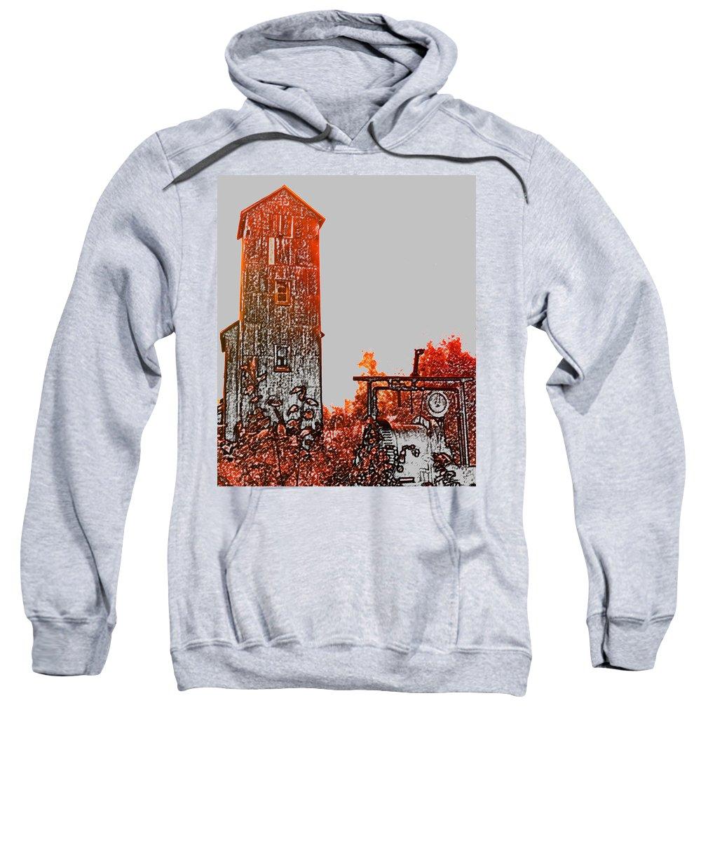 Mine Shaft Sweatshirt featuring the photograph Rust by Ian MacDonald