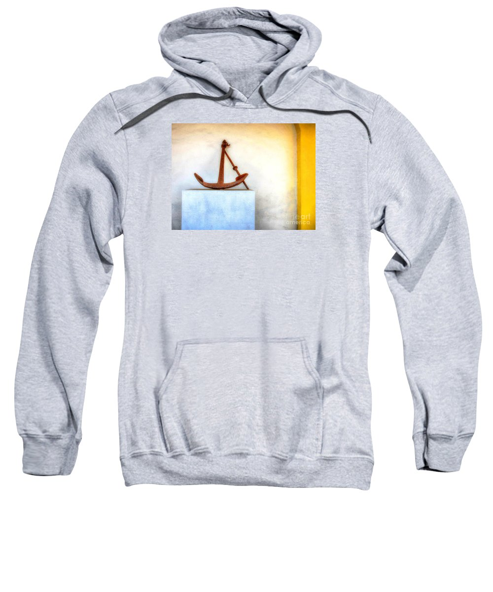 Anchor Sweatshirt featuring the photograph Rusty Anchor by Debbi Granruth