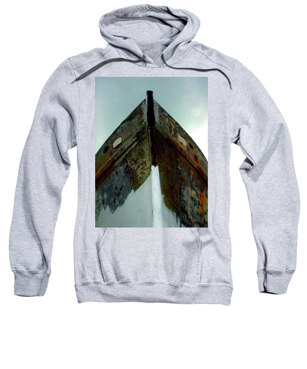 Boat Sweatshirt featuring the photograph Rusty Bow by Susanne Van Hulst