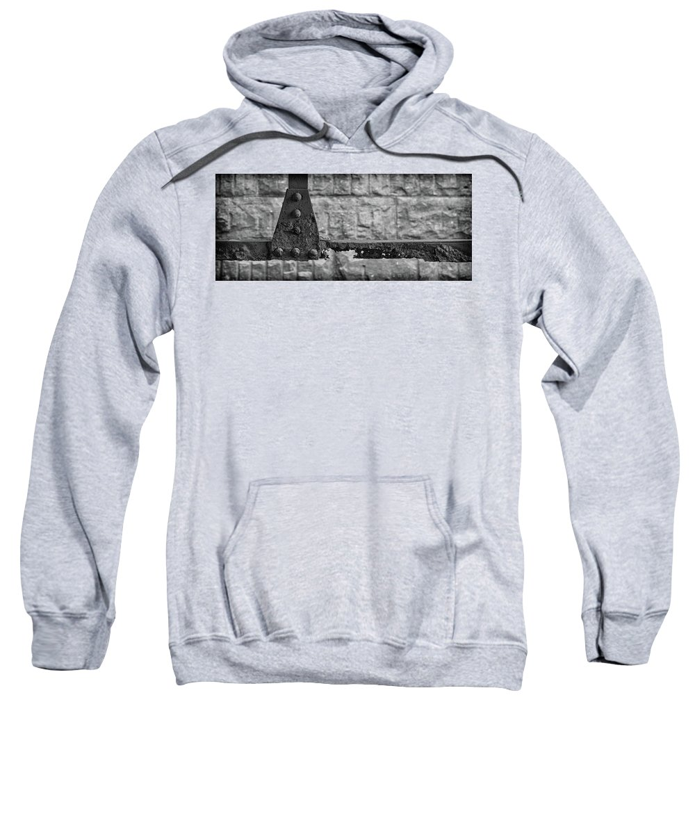 Rusty Sweatshirt featuring the photograph Rusty Steel Bridge by Mike Burgquist
