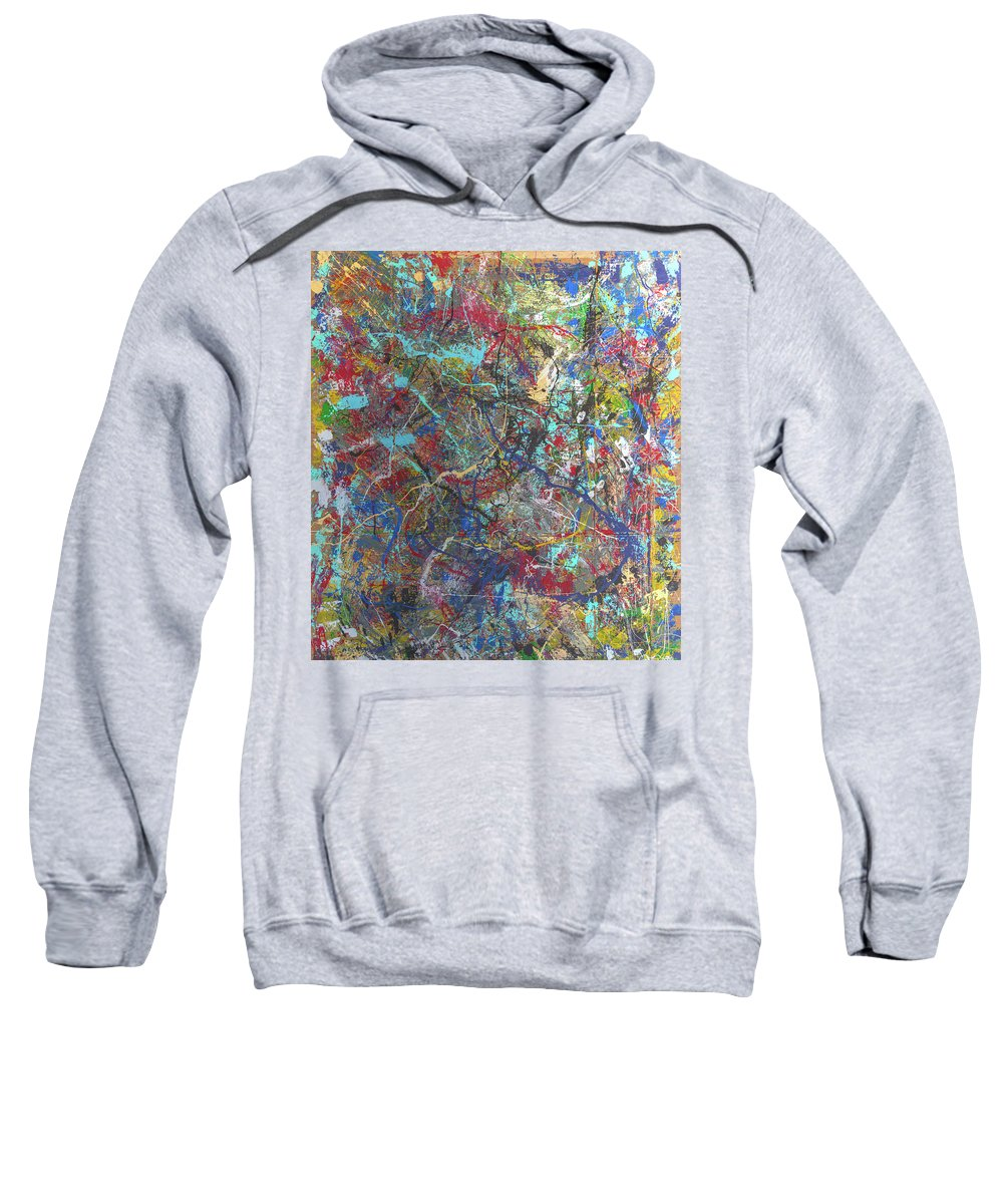 Sweatshirt featuring the painting 's' Curve In The Winter Of The White Horse by Clay White