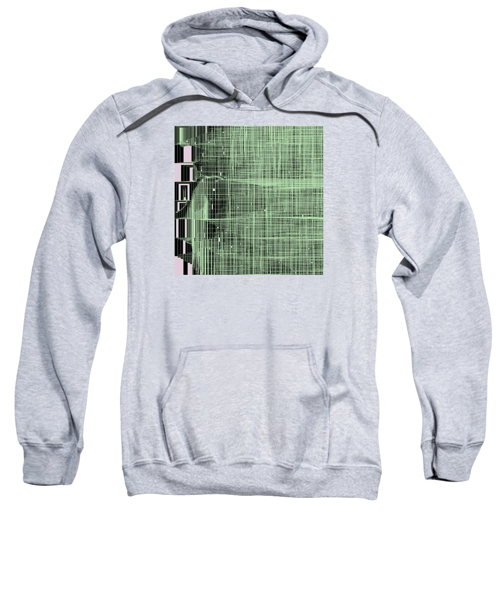 Abstract Sweatshirt featuring the digital art S.7.34 by Gareth Lewis