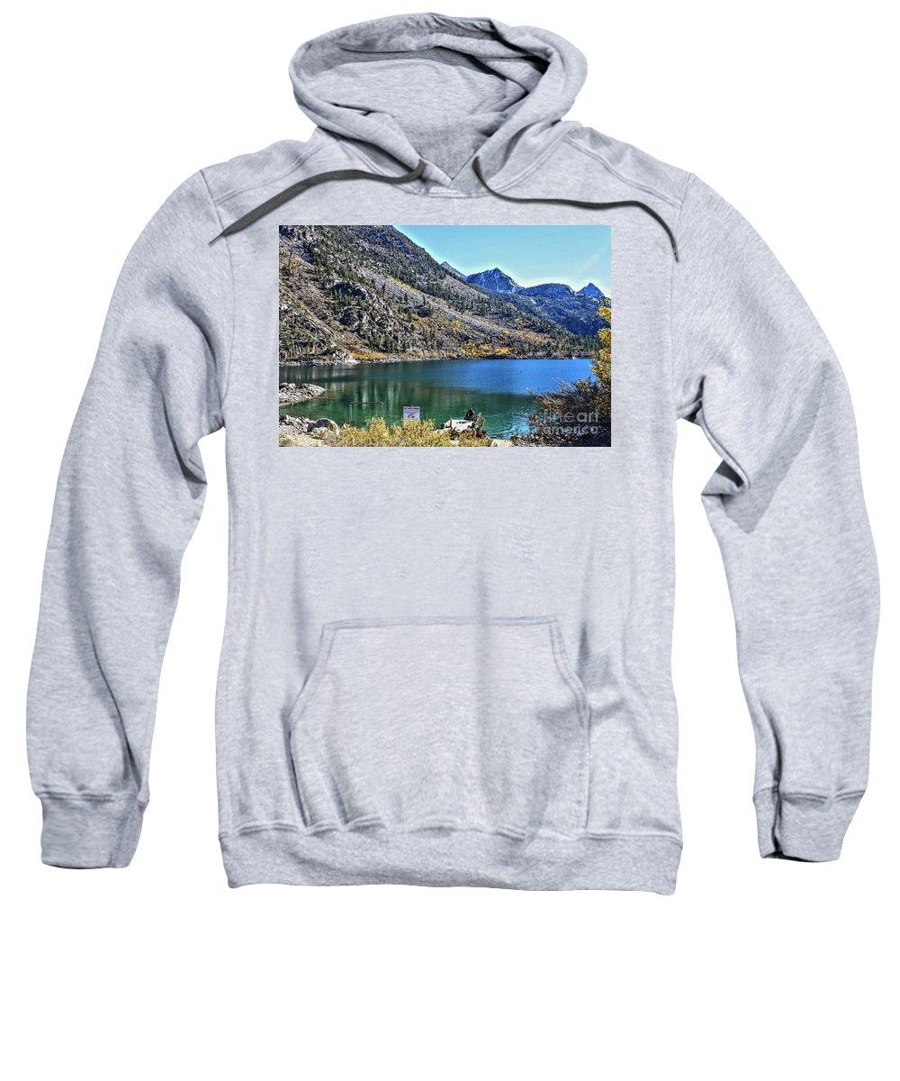 Sabrina Lake Sweatshirt featuring the photograph Sabrina Lake California by Tommy Anderson
