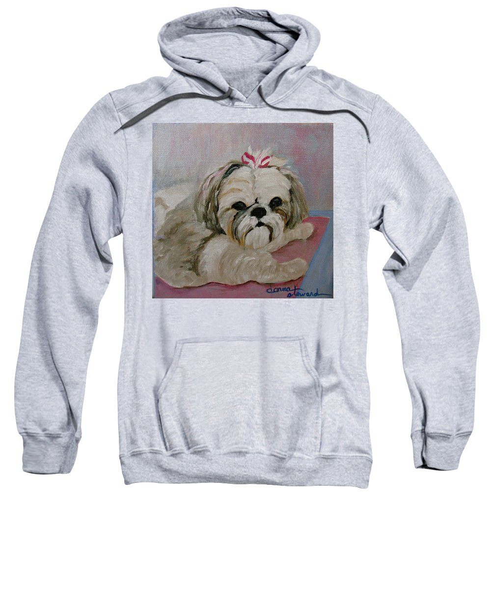 Acrylic Sweatshirt featuring the painting Sacha by Donna Steward