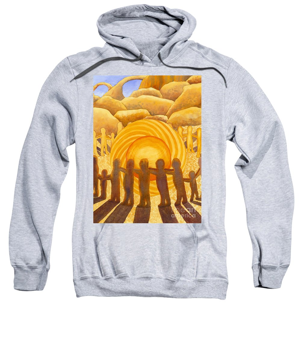 Chakra Sweatshirt featuring the painting Sacral Chakra by Catherine G McElroy