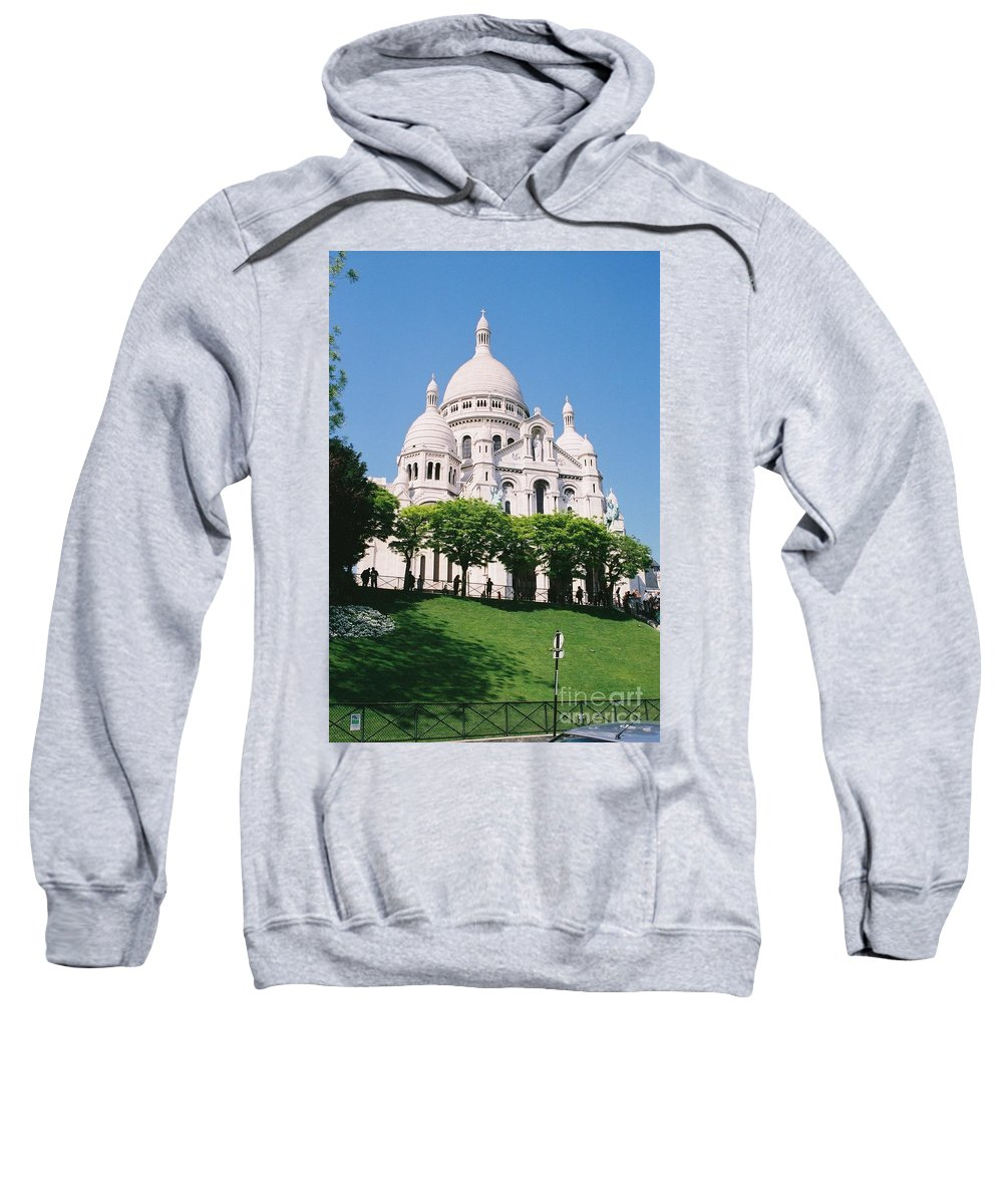 Church Sweatshirt featuring the photograph Sacre Coeur by Nadine Rippelmeyer
