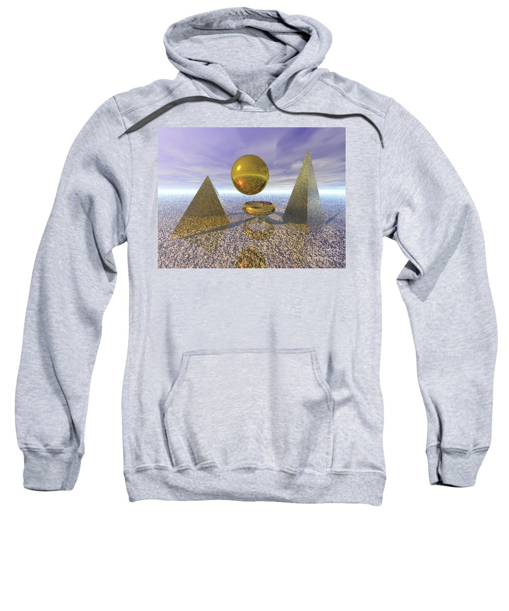 Meditation Sweatshirt featuring the digital art Sacred Geometry by Oscar Basurto Carbonell