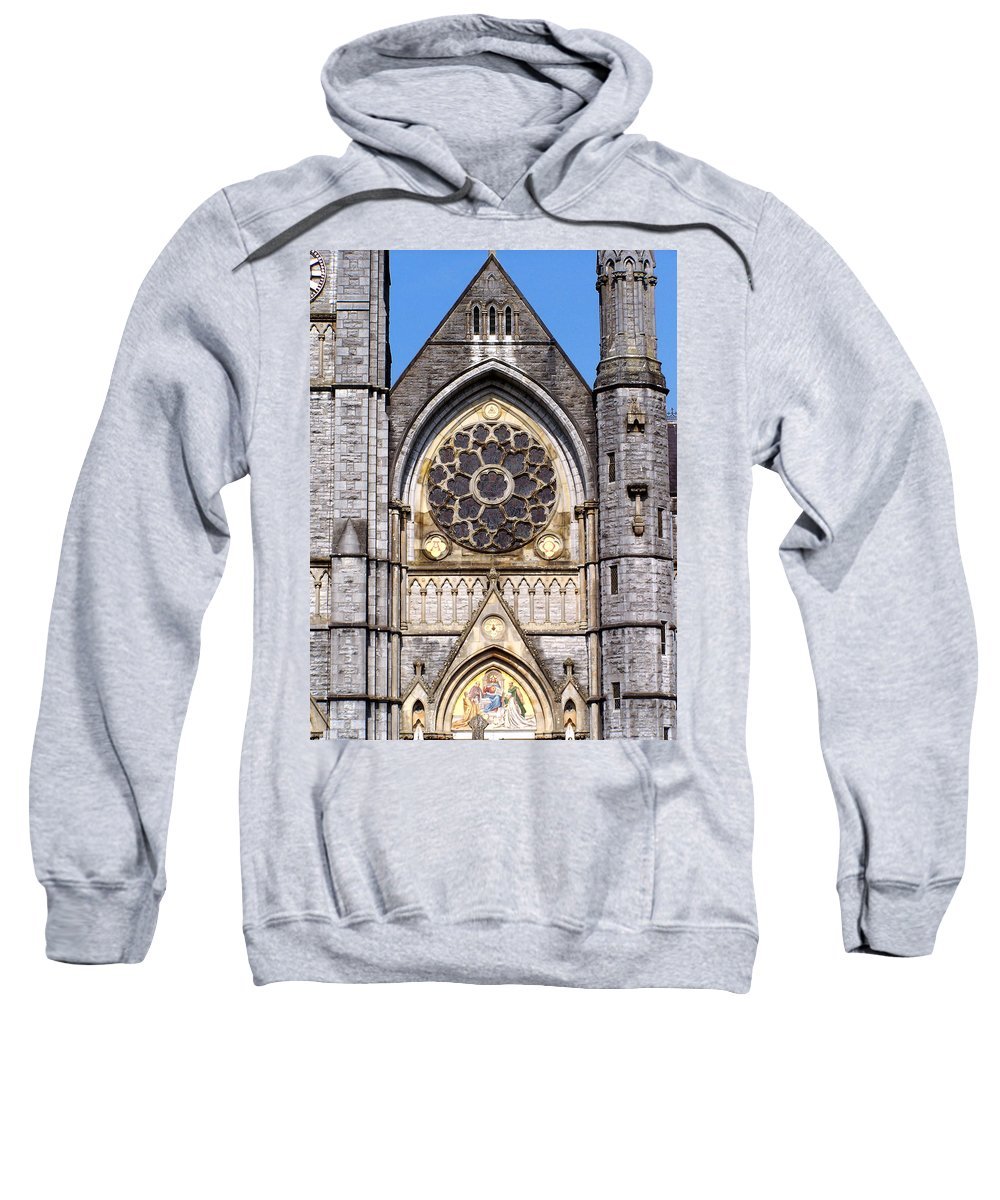 Ireland Sweatshirt featuring the photograph Sacred Heart Church Detail Roscommon Ireland by Teresa Mucha
