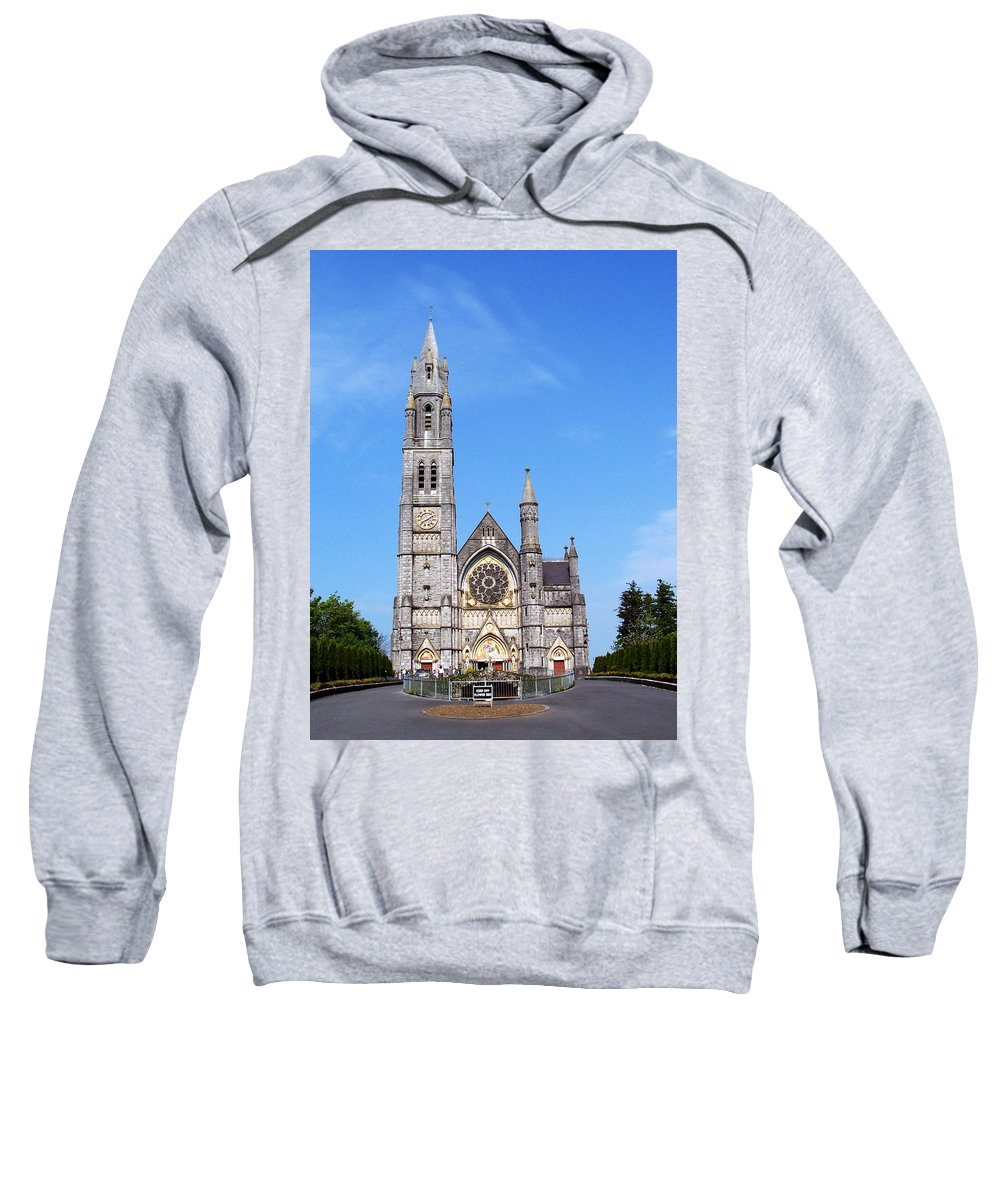 Ireland Sweatshirt featuring the photograph Sacred Heart Church Roscommon Ireland by Teresa Mucha