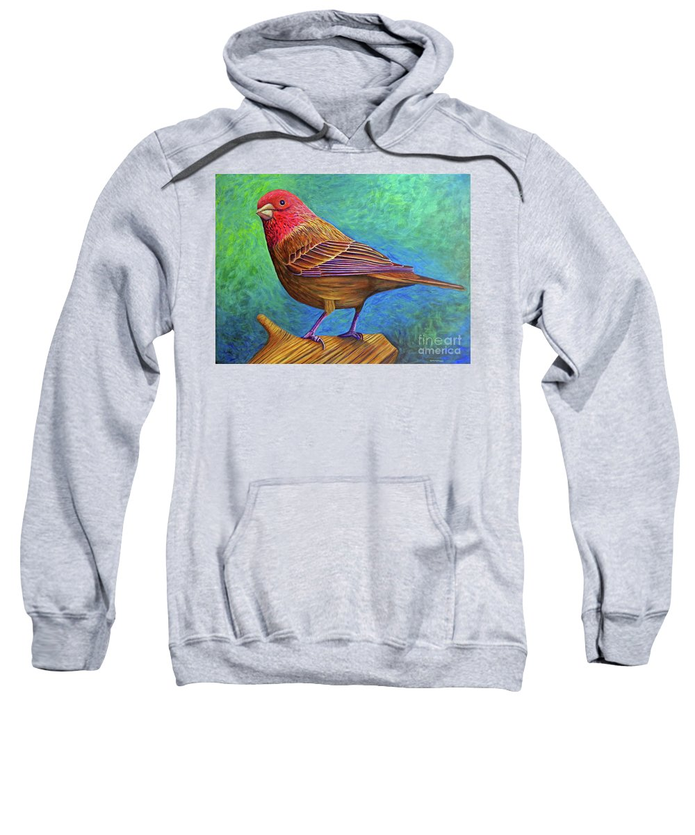 Bird Sweatshirt featuring the painting Sacred Space by Brian Commerford