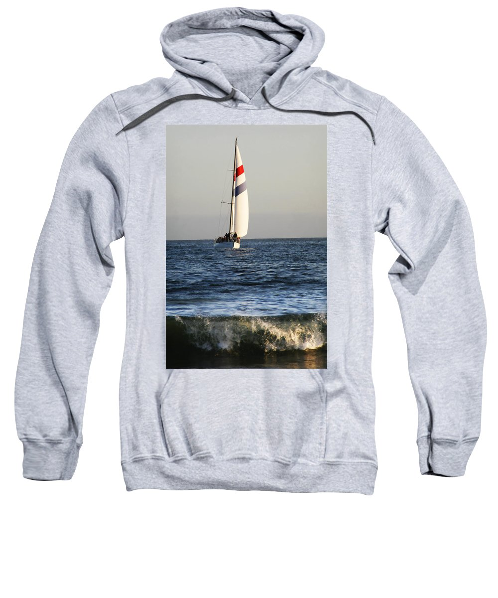 Sail Sweatshirt featuring the photograph Sailboat Coming Ashore 1 by Marilyn Hunt