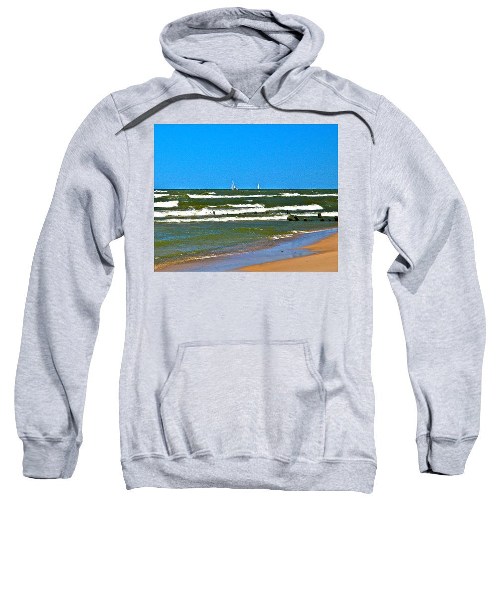 Water Sweatshirt featuring the photograph Sailing Away by Robert Pearson
