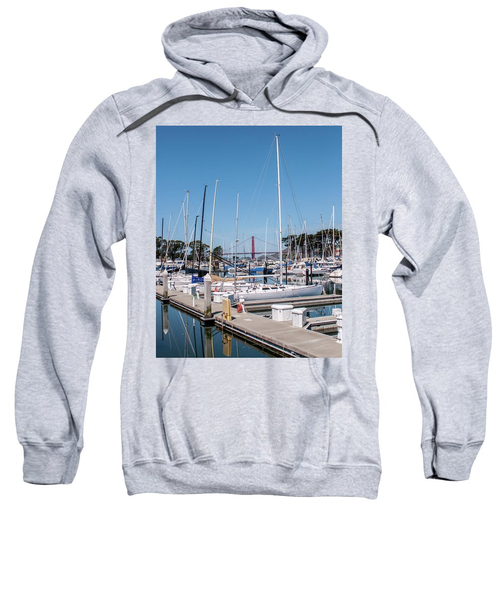 San Francisco Sweatshirt featuring the photograph Sailing To The Golden Gate by Andrew Hollen