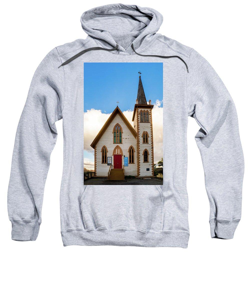 Mair's Photography Sweatshirt featuring the photograph Saint Paul's Episcopal Church Verginia City Nevada by TL Mair