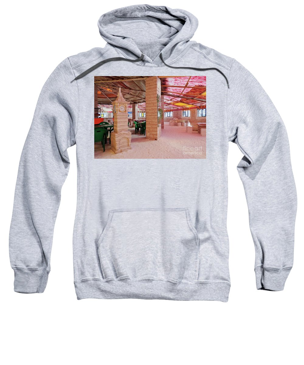 South America Sweatshirt featuring the photograph Salt Hotel, Salar De Uyuni, Bolivia by Karol Kozlowski