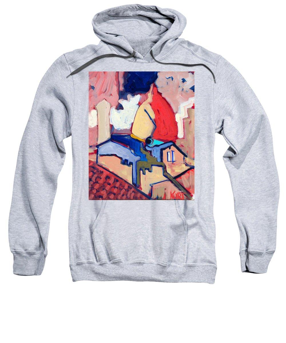 Florence Sweatshirt featuring the painting Salutare by Kurt Hausmann