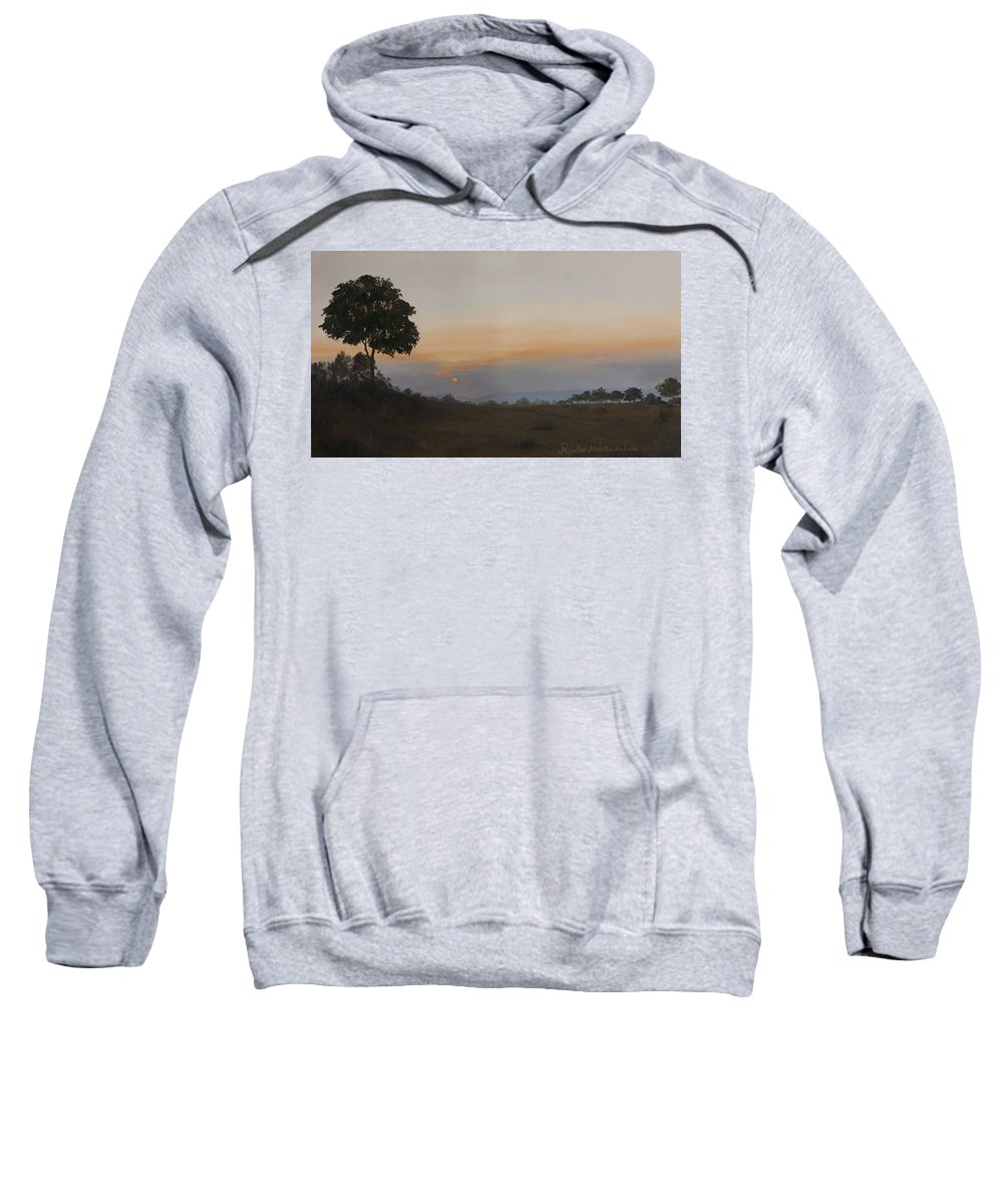 Dawn Sweatshirt featuring the painting Salutation To The Dawn by Mandar Marathe