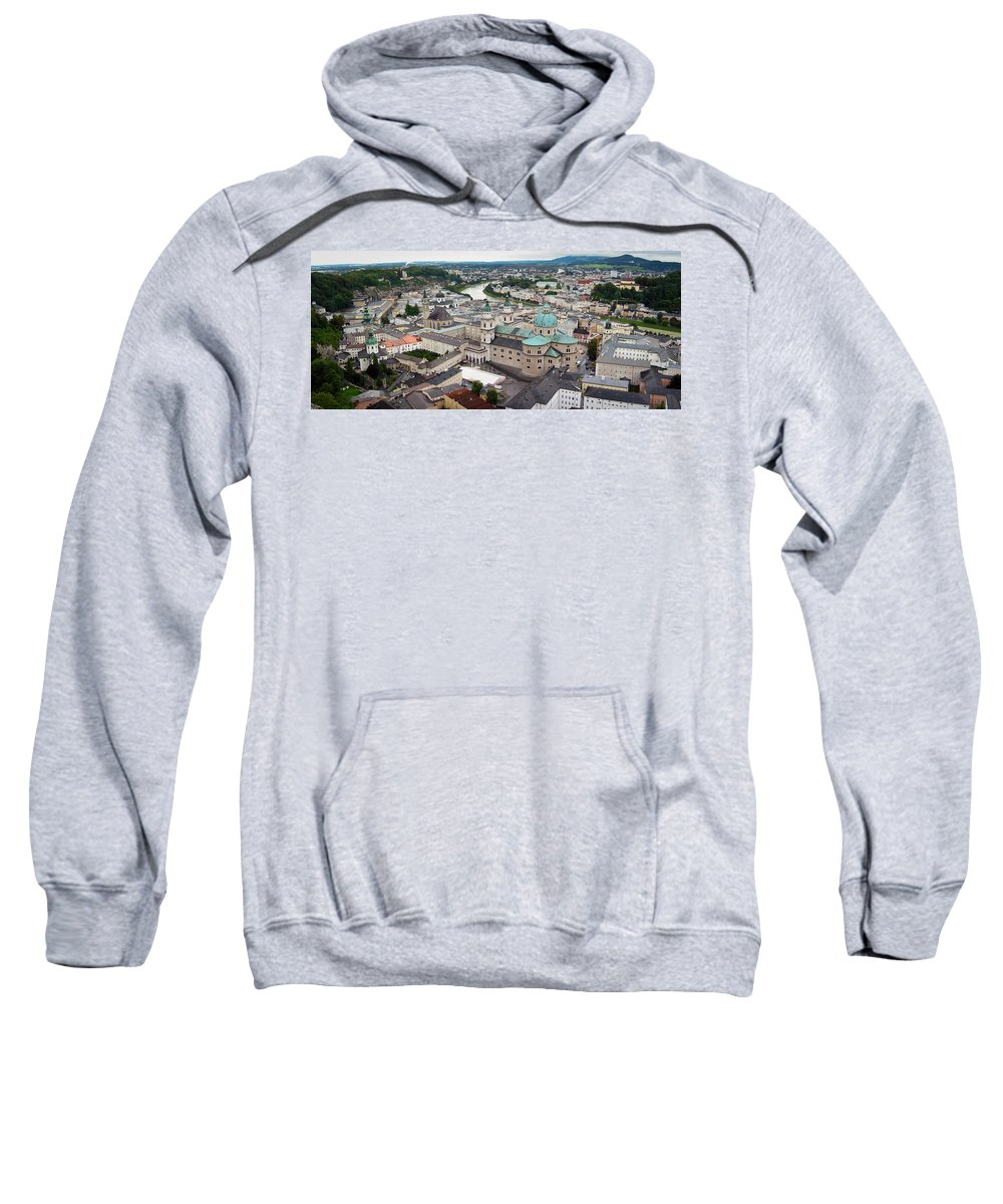 3scape Sweatshirt featuring the photograph Salzburg Panoramic by Adam Romanowicz