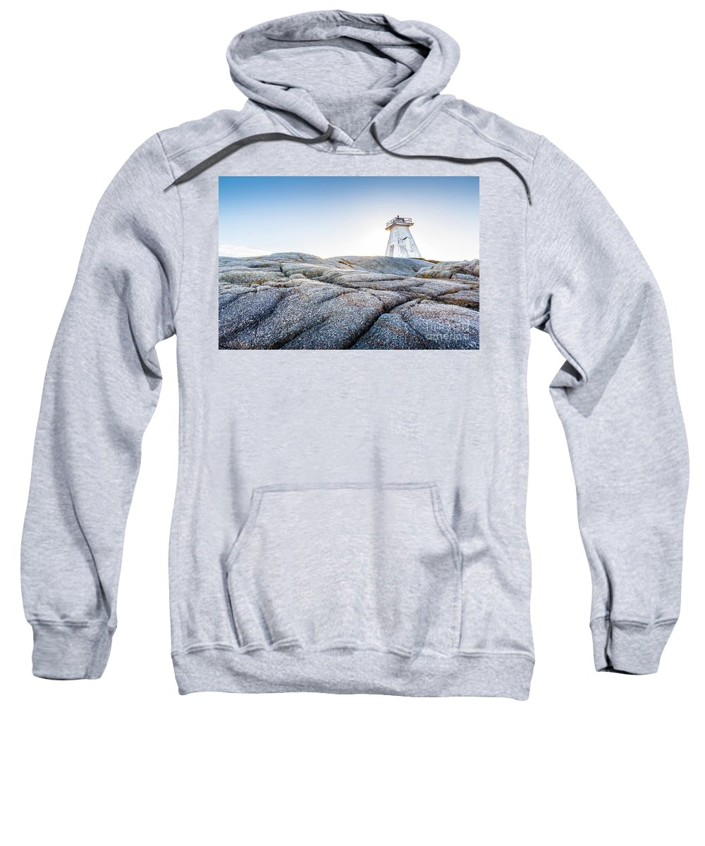 Blue Sky Sweatshirt featuring the photograph Sambro Lighthouse by Mike Organ