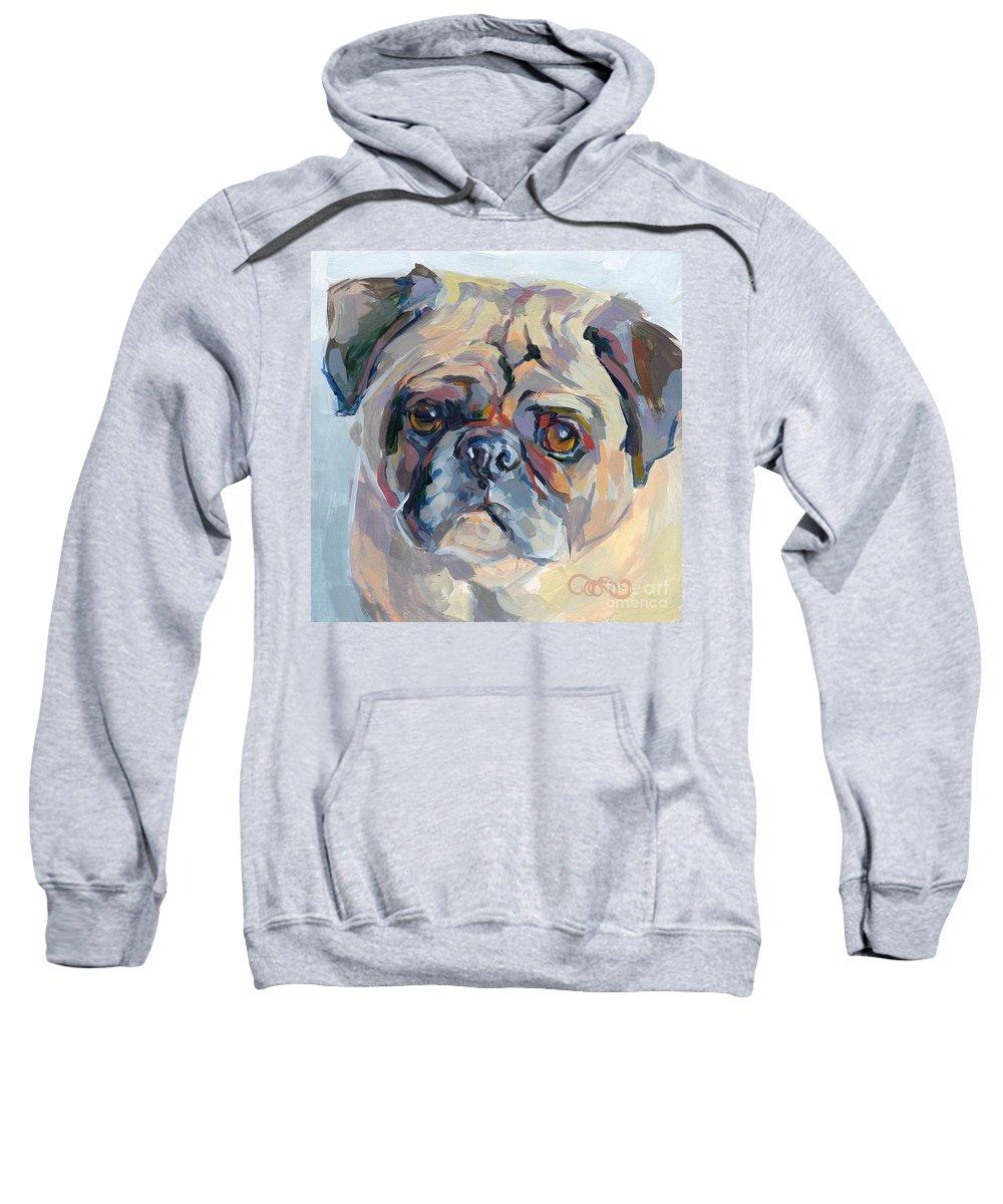 Pug Sweatshirt featuring the painting Sammy Sumner by Kimberly Santini