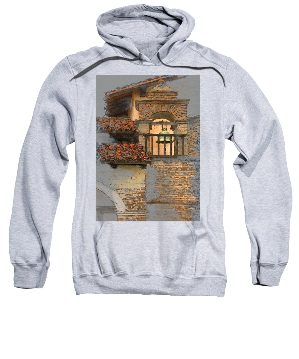 Architecture Sweatshirt featuring the photograph San Antonio Bell by Sharon Foster