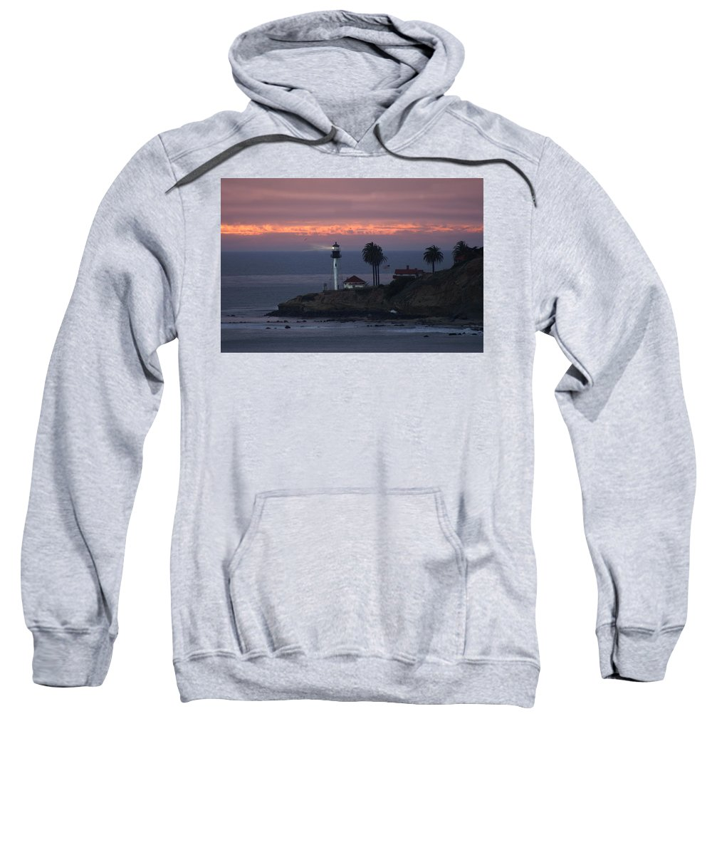 San Deigo Sweatshirt featuring the photograph San Diego Lighthouse by Heather Coen
