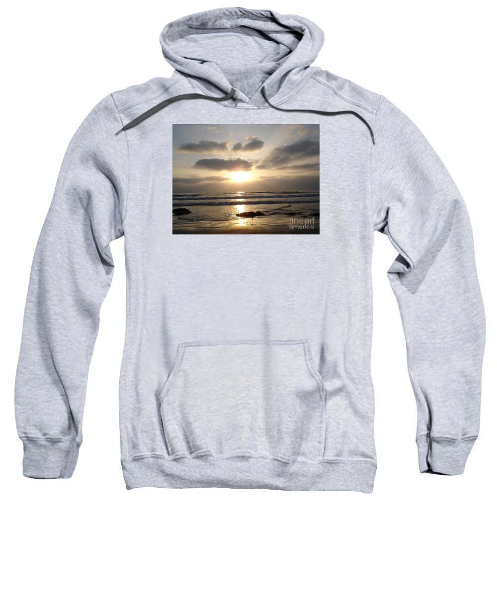 Beach Sweatshirt featuring the photograph San Diego by Madilyn Fox