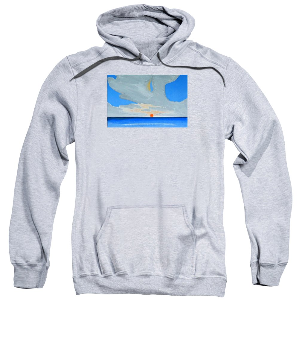 Sunrise Seascape Sweatshirt featuring the painting San Juan Sunrise by Dick Sauer